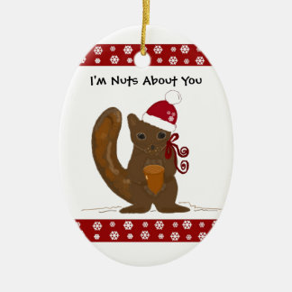 Christmas Squirrel with Cute Saying Christmas Ornament
