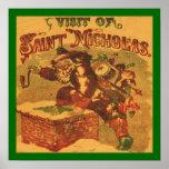 Christmas St. Nicholas Vintage Print