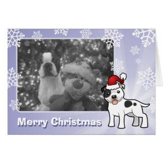 Christmas Staffordshire Bull Terrier Card