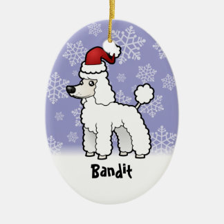 Christmas Standard/Miniature/Toy Poodle puppy cut Christmas Ornament