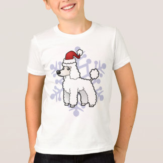 Christmas Standard/Miniature/Toy Poodle puppy cut T-Shirt