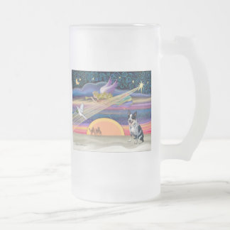Christmas Star - Australian Cattle Dog Frosted Glass Mug