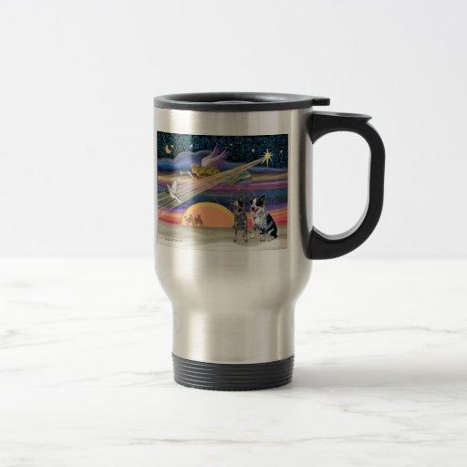 Christmas Star - Australian Cattle Dogs (two) Coffee Mugs