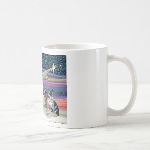 Christmas Star - Australian Cattle Dogs (two) Coffee Mug