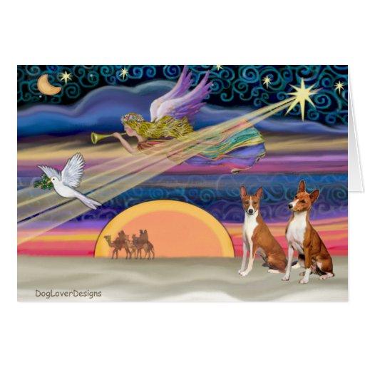 Christmas Star - Basenjis (two) Cards
