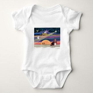Christmas Star - Basset Hound 1 Baby Bodysuit