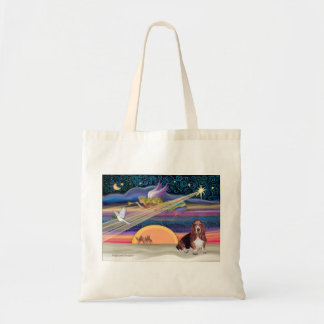 Christmas Star - Basset Hound 1 Budget Tote Bag