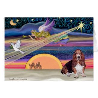 Christmas Star - Basset Hound 1 Greeting Card