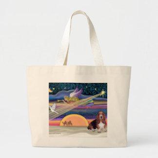Christmas Star - Basset Hound 1 Jumbo Tote Bag