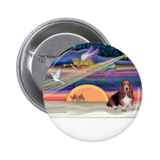 Christmas Star - Basset Hound 1 Pinback Buttons