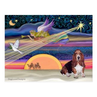 Christmas Star - Basset Hound 1 Postcard