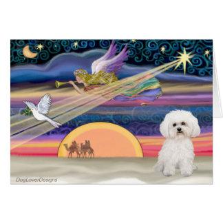 Christmas Star - Bichon Frise 2 Card