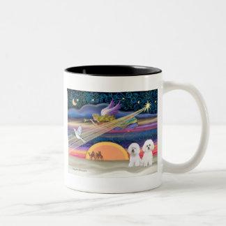 Christmas Star - Bichon Frise (two) Coffee Mugs