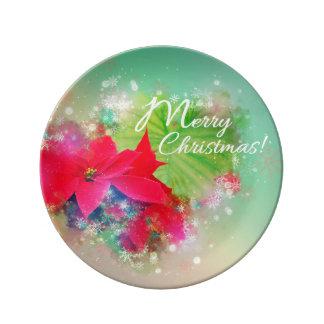 Christmas star, Christmas, Watercolor Plate