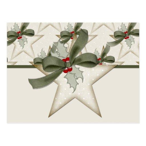Christmas Star Design 2 Holiday Postcard