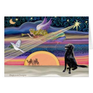 Christmas Star - Flat Coated Retriever Cards