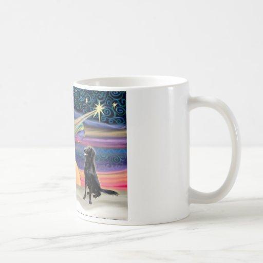 Christmas Star - Flat Coated Retriever Mugs