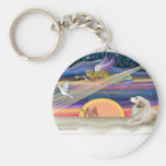 Christmas Star - Great Pyrenees 1 Keychains