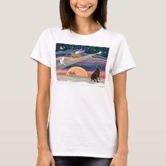 Christmas Star - Labrador Retriever (Chocolate) T-Shirt
