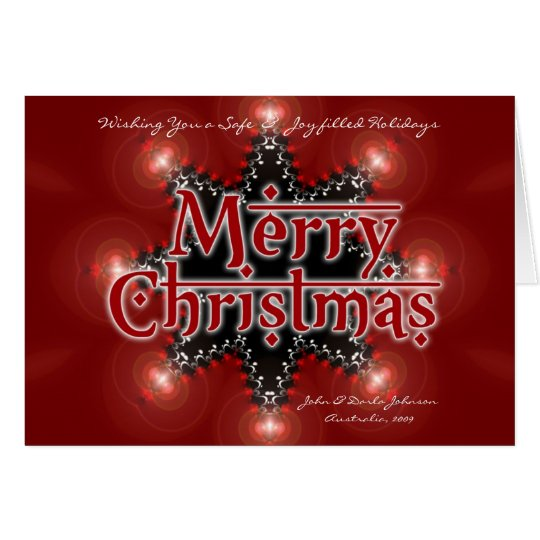 Christmas Star Light Card