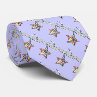 Christmas Star on Icy Branch Tie