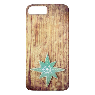 Christmas Star on Wooden Texture Background iPhone 8 Plus/7 Plus Case