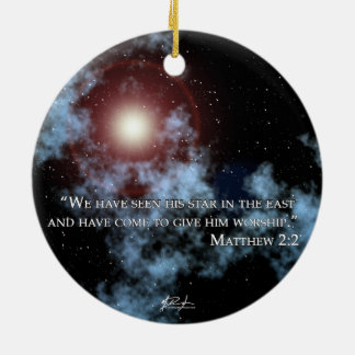 Christmas Star Ornament (2 side)