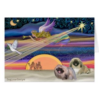 Christmas Star - Pekingese (two) Card