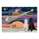 Christmas Star - Poodles (two Standard) - Cards