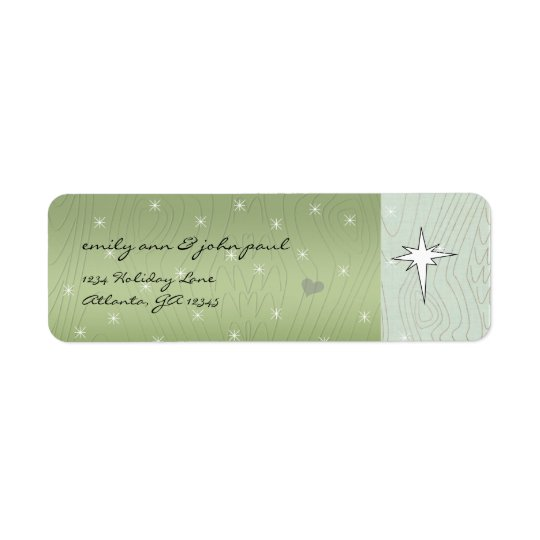 Christmas Star Return Address Labels