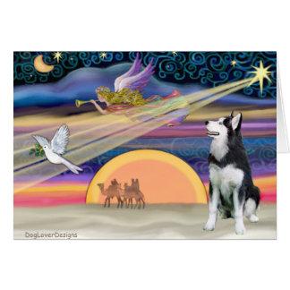 Christmas Star - Siberian Husky 1 Greeting Card