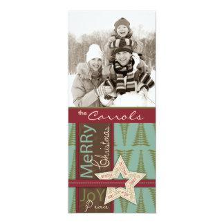 Christmas Star Tall Card 10 Cm X 24 Cm Invitation Card