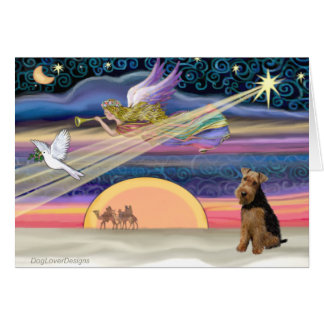 Christmas Star - Welsh Terrier Greeting Card