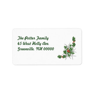 Christmas Starfish Address Labels