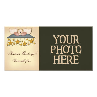 Christmas Stars Angel Personalized Photo Card