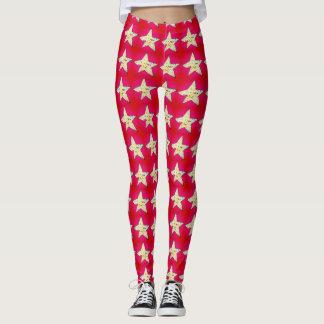 Christmas stars leggings