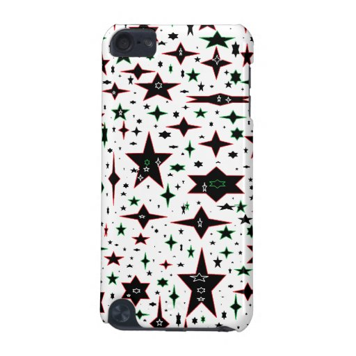 Christmas Stars on White iPod Touch 5G Cases