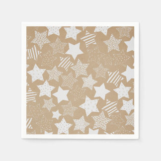 Christmas Stars Party Napkins Paper Napkin