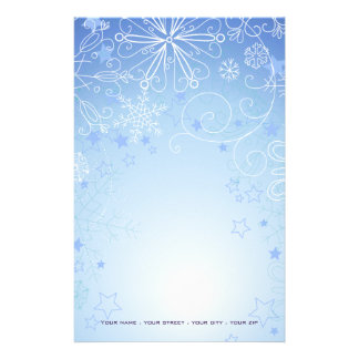 Christmas Stationary Blue & White Stationery