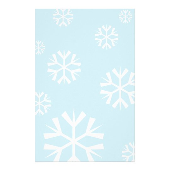 Christmas stationery with white snowflakes