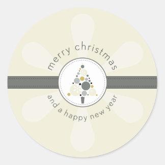 CHRISTMAS STICKER :: modern spotty tree