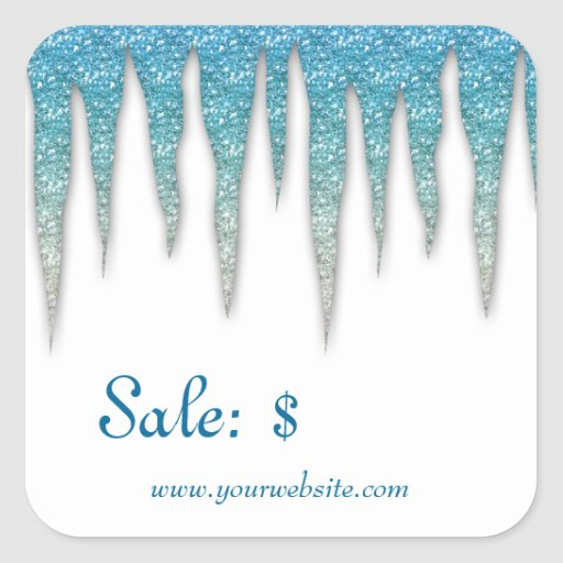 Christmas Sticker Price Tag Sale Winter Icicles
