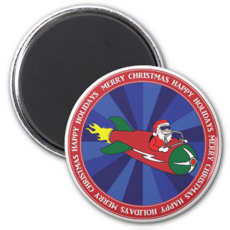 CHRISTMAS STICKERS, BUTTONS, ETC #1 6 CM ROUND MAGNET