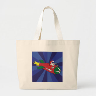 CHRISTMAS STICKERS, BUTTONS, ETC #1 CANVAS BAG