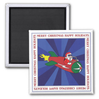 CHRISTMAS STICKERS, BUTTONS, ETC #1 SQUARE MAGNET