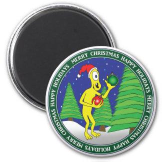 CHRISTMAS STICKERS, MUGS, ETC #2 6 CM ROUND MAGNET