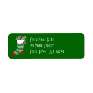 Christmas Stocking - Address Label