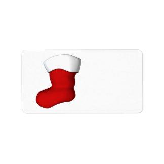 Christmas Stocking Address Label