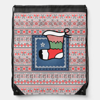 Christmas Stocking bag with funny videos Backpack