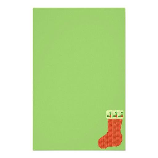 Christmas Stocking Bead Pattern Stationery Design
